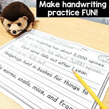 Handwriting Practice BUNDLE-NO PREP: Grades 1,2,&3 Print & Cursive