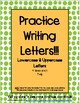Handwriting Practice BUNDLE - with Letters a-z and Numbers 1-20 (4 times each)