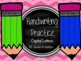 Handwriting Practice Book- Capital Letters