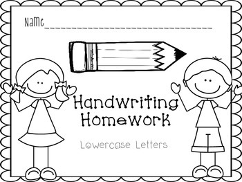 Handwriting Practice Book- Lowercase Letters