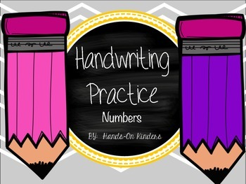 Handwriting Practice Book- Numbers 1-10