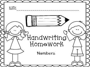Handwriting Practice Book- Numbers 1-10