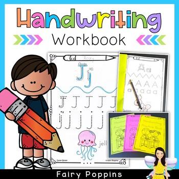 Handwriting Practice Book (Zaner-Bloser font)