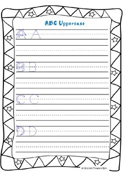 Handwriting Practice Booklet 1 - alphabet, numbers, colors