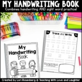 Handwriting Practice Booklet Distance Learning Packet
