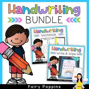 Handwriting Practice Bundle - Alphabet & Numbers (Zaner-Bl