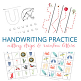 Handwriting Activities Bundle - Rainbow Letters & Cutting Strips