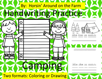 Handwriting Practice - Camping