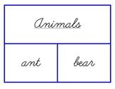 Handwriting Practice Cards - Cursive