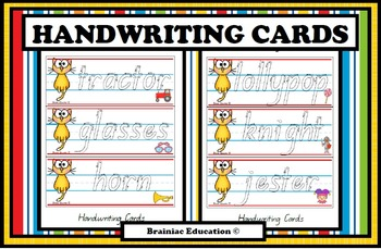 Handwriting Practice Cards