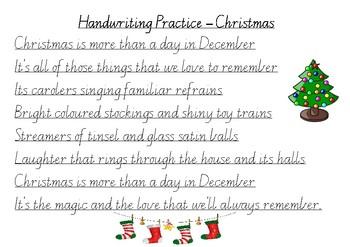 Cursive Handwriting Practice Paragraphs Worksheets