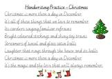 Handwriting Practice - Christmas (Victorian Cursive)