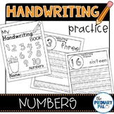 Numbers Handwriting Practice Distance Learning