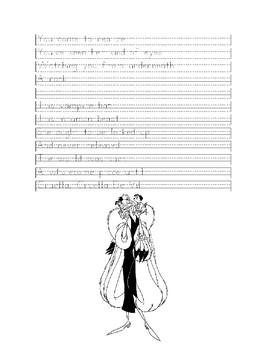 Handwriting Practice - Cruella De Vil