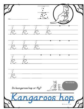Handwriting Practice - D'nealian *Complete Sentences Practice