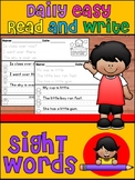 Handwriting Practice - Daily Easy Read & Write - FRY 200 S