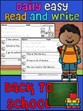 Handwriting Practice - Daily Easy Read and Write Sentences