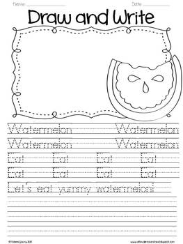 Handwriting Practice - Draw & Write Pages
