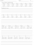 Handwriting Practice - Spanish Letters