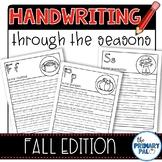 Handwriting Practice: Fall Edition