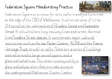 Handwriting Practice - Federation Square Melbourne (Victor