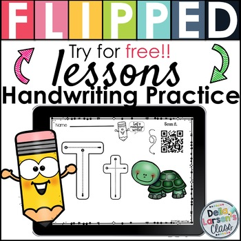 Handwriting Practice Flipped Lesson FREEBIE