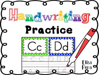Handwriting Practice Freebie