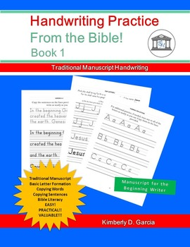 Handwriting Practice: From the Bible! Book 1