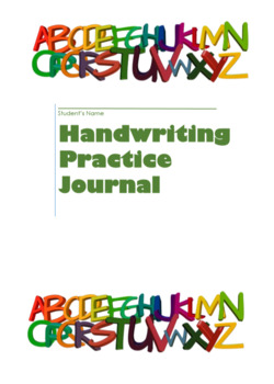 Handwriting Practice Journal