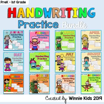 Handwriting Practice Journal - All year Bundle