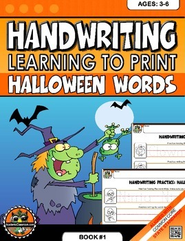 Handwriting Practice: Learn to Print Halloween Words Ages:3-6