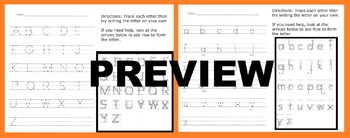 Handwriting Practice: Letter Formation Uppercase & Lowercase: Trace & Write