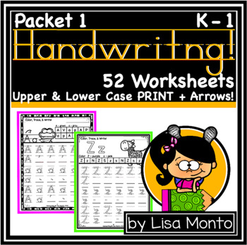 Handwriting Practice Letters A to Z (by Lisa Monto)