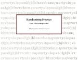 Handwriting Practice: Level 1 Pre-Writing Strokes