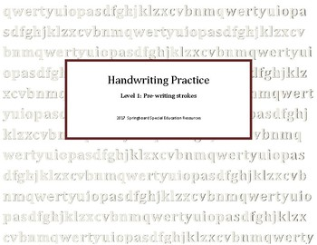 handwriting practice level 1 pre writing strokes by springboard special education resources. Black Bedroom Furniture Sets. Home Design Ideas
