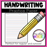 Handwriting Practice Lined Paper