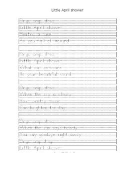 Handwriting Practice - Little April Showers