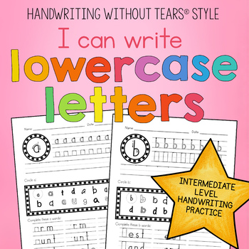 Handwriting Practice - Lower case letter tracing - Handwriting Without Tears