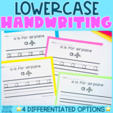 Handwriting Practice: Lowercase Letters