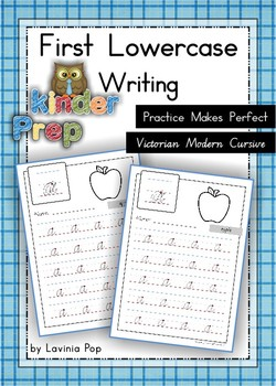 Handwriting - Practice Makes Perfect {Lowercase Letters} Vic. Cursive font