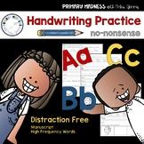 Handwriting Practice (Manuscript)  No-Nonsense