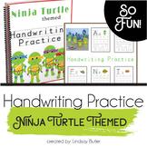 Handwriting Practice - Ninja Turtle Themed