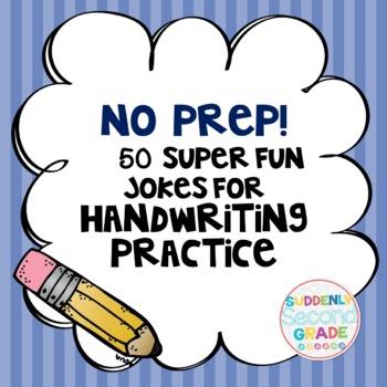 Handwriting Practice- No Prep! 50 Jokes Kids Love!