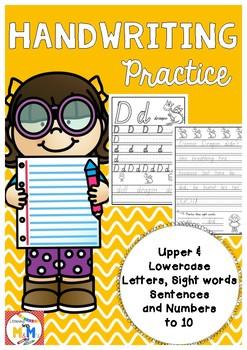 Handwriting Practice Pack