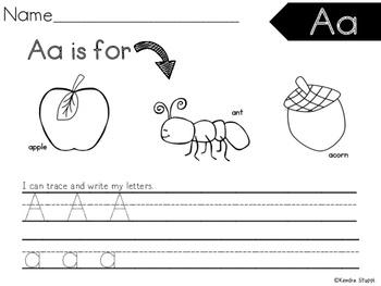 Handwriting Practice Pack {From A-Z}