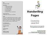 Handwriting Practice Pack