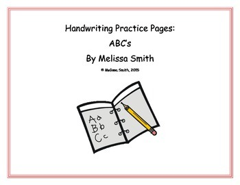 Handwriting Practice Pages: ABC's