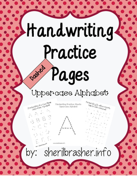 Handwriting Practice Pages - Dashed Uppercase DELUXE Pack