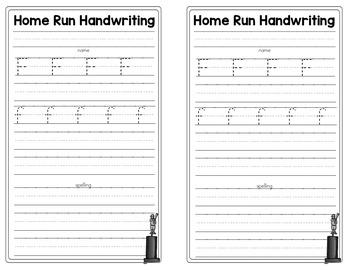 Handwriting - Practice Pages + Homework