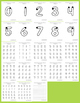Handwriting Practice Pages - Outline Numbers 0-9